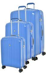 Cestovní kufry set 3ks Dielle S,M,L  120-05 modrá