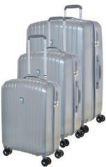 Cestovní kufry set 3ks Dielle S,M,L  120-13 šedá