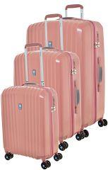 Cestovní kufry set 3ks Dielle S,M,L  120-30 růžová