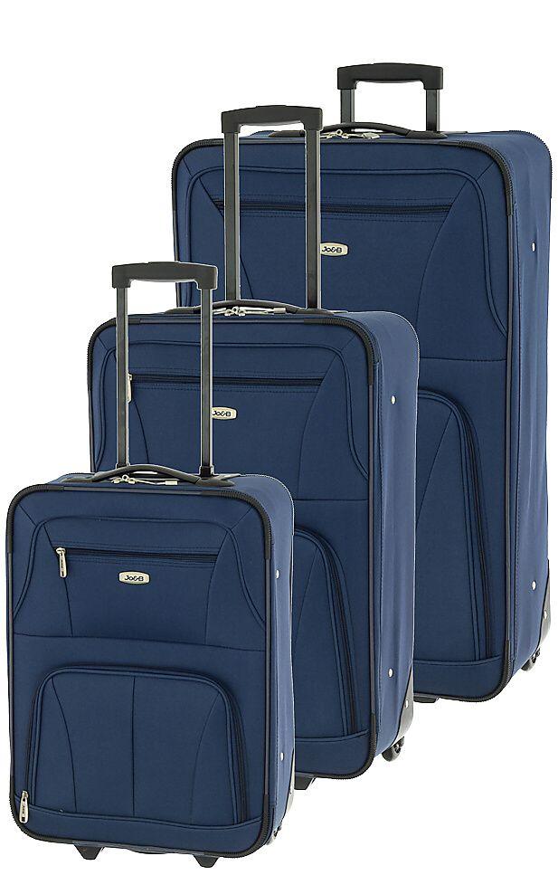 Cestovní kufry set 3ks Dielle S,M,L 748-05 modrá