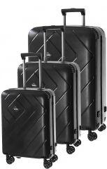 Cestovní kufry set 3ks Dielle S,M,L  PPL8-01 černá
