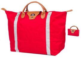 Nákupní skládací taška Dielle BS-3-02 červená