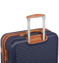 Cestovní kufr ROCK TR-0159/3-L ABS - krémová E-batoh