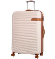 Cestovní kufr ROCK TR-0159/3-XL ABS - krémová