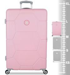 Cestovní kufr SUITSUIT® TR-1231/3-L ABS Caretta Pink Lady E-batoh