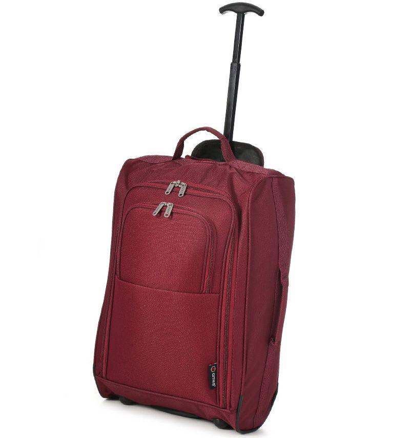 Kabinové zavazadlo CITIES T-830/1-55 - vínová