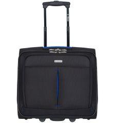 Kufr příruční na notebook Sirocco T-1103 - černá/modrá AZURE E-batoh