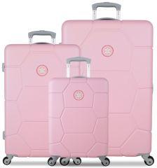 Sada cestovních kufrů SUITSUIT® TR-1231/3 ABS Caretta Pink Lady