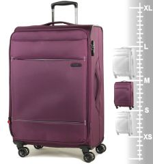 Cestovní kufr ROCK TR-0161/3-M - fialová E-batoh