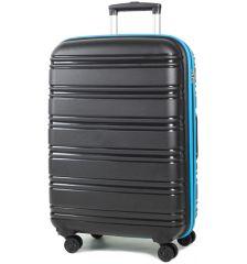 Cestovní kufr ROCK TR-0164/3-M PP - černá/modrá