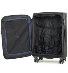 Cestovní kufr ROCK TR-0162/3-M - černá E-batoh