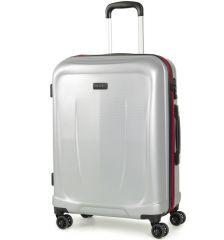 Cestovní kufr ROCK TR-0165/3-M ABS - stříbrná