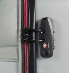 Kabinové zavazadlo ROCK TR-0166/3-S ABS/PES - stříbrná E-batoh