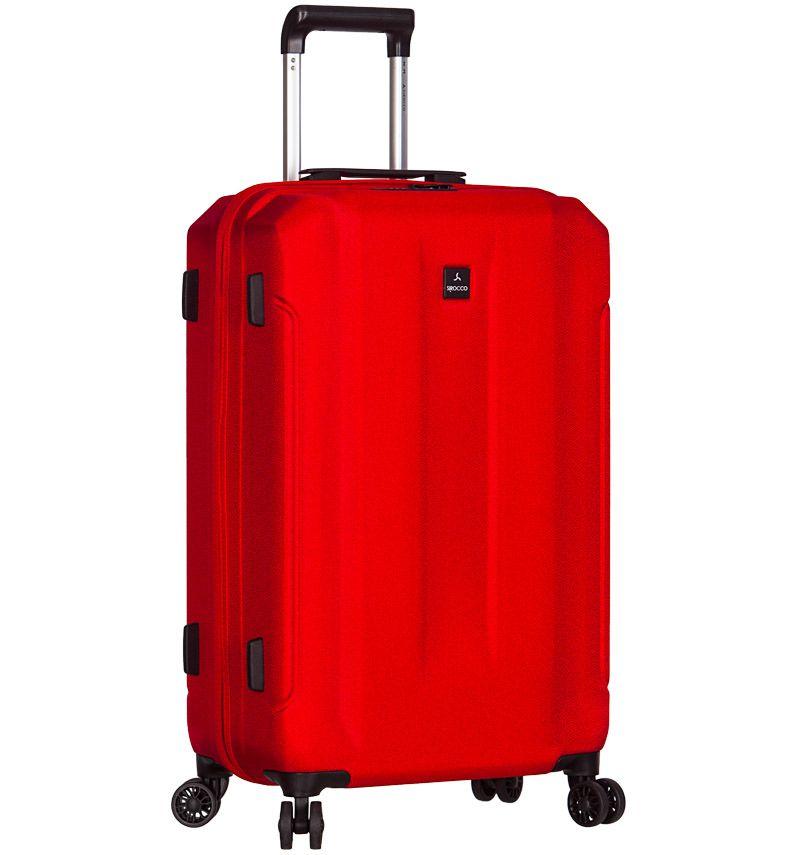 Cestovní kufr SIROCCO T-1177/3-L ABS - červená