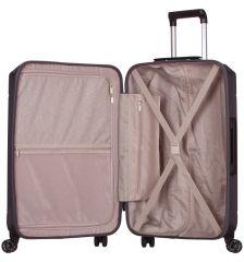 Cestovní kufr SIROCCO T-1177/3-L ABS - šedá AZURE E-batoh
