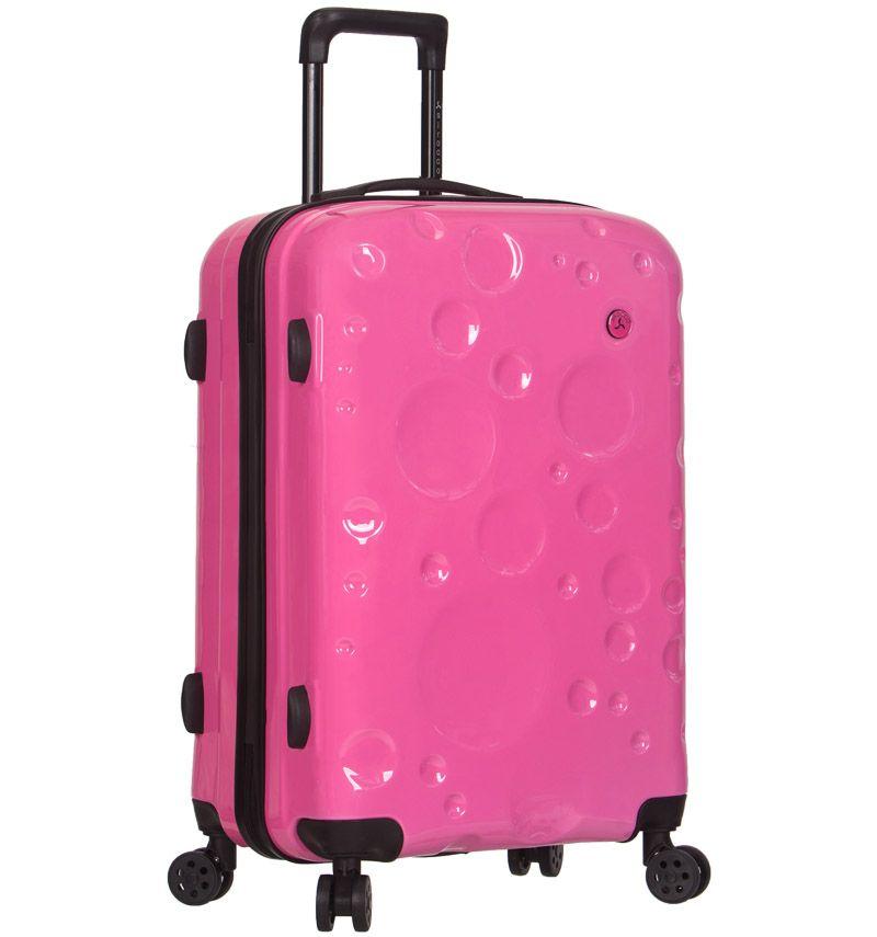 Cestovní kufr SIROCCO T-1194/3-L PC - růžová AZURE E-batoh