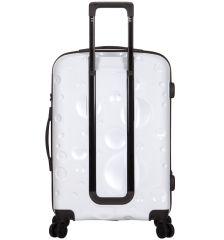 Kabinové zavazadlo SIROCCO T-1194/3-S PC - bílá AZURE E-batoh