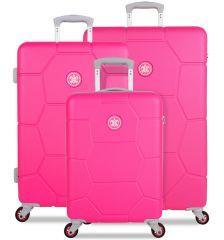 Sada cestovních kufrů SUITSUIT® TR-1248/3 ABS Caretta Hot Pink