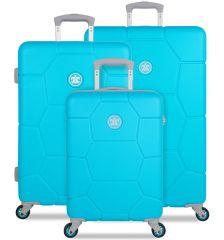 Sada cestovních kufrů SUITSUIT® TR-1250/3 ABS Caretta Peppy Blue