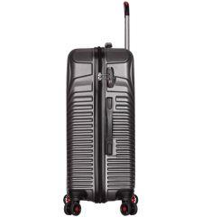 Cestovní kufr SIROCCO T-1157/3-M ABS - charcoal AZURE E-batoh