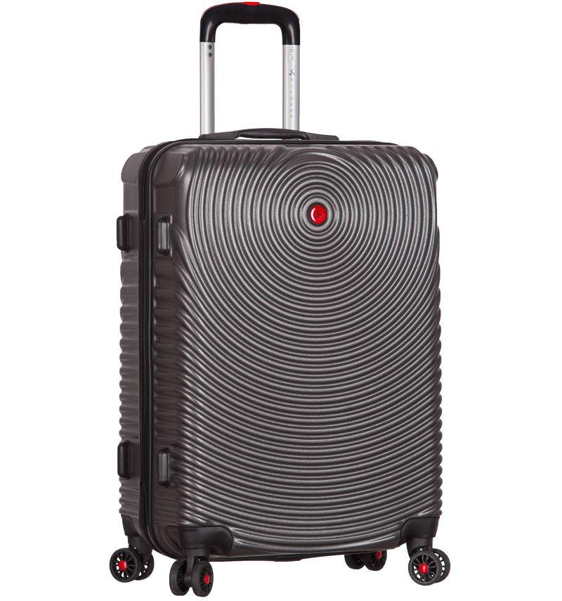 Cestovní kufr SIROCCO T-1157/3-M ABS - charcoal