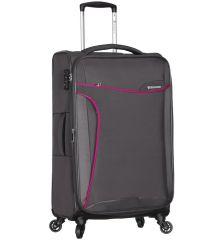 Cestovní kufr SIROCCO T-1201/3-L - šedá