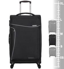 Cestovní kufr SIROCCO T-1201/3-M - černá AZURE E-batoh