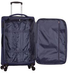 Cestovní kufr SIROCCO T-1201/3-M - modrá AZURE E-batoh