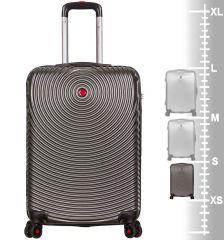 Kabinové zavazadlo SIROCCO T-1157/3-S ABS - charcoal AZURE E-batoh