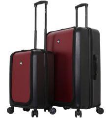 Sada cestovních kufrů MIA TORO M1709/2 - černá/vínová