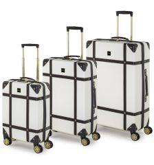 Sada cestovních kufrů ROCK TR-0193/3 ABS - krémová