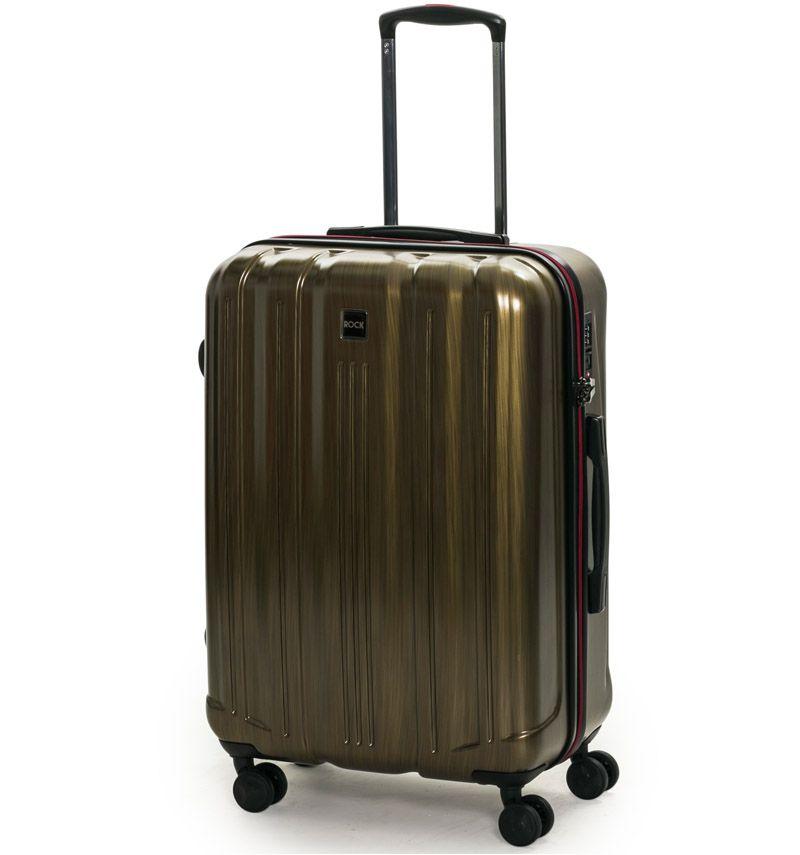 Cestovní kufr ROCK TR-0201/3-M PC - zlatá