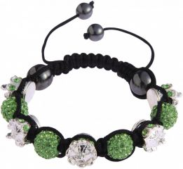 Shamballa náramek LS Fashion LSB0031 zelený