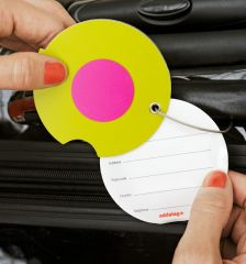 Jmenovka na kufr Addatag - Multi Dots Blue E-batoh
