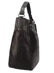 Kombinovaná velká dámská kabelka Tommasini černá E-batoh
