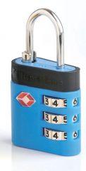 Bezpečnostní TSA kódový zámek na zavazadla TravelBlue TB037 - modrá