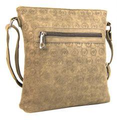 Dámská crossbody kabelka s ražením R820 písková hnědá Tapple E-batoh