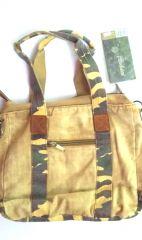 Dámská kabelka na rameno 60694 plátěná E-batoh