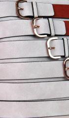 Moderní crossbody kabelka se zlatými přezkami 2124-BB červená BELLA BELLY E-batoh