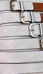 Moderní crossbody kabelka se zlatými přezkami 2124-BB hnědá BELLA BELLY E-batoh