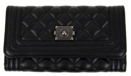Prošívaná dámská peněženka DF029 černá NEW BERRY E-batoh