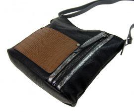 Dámská crossbody kabelka s čelní kroko kapsičkou F-014 černá Sun-bags E-batoh