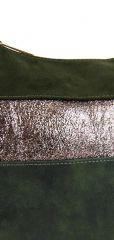 Elegantní zelená menší crossbody kabelka se zlatými doplňky 2765-BB BELLA BELLY E-batoh