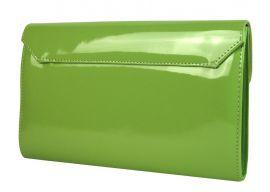 Luxusní dámské psaníčko SP100 jablíčkově zelený lak GROSSO E-batoh