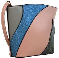 Menší dámská barevná crossbody kabelka F002 růžová Sun-bags E-batoh