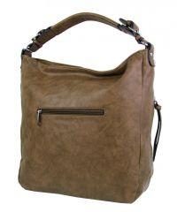 Moderní velká hnědá dámská kombinovaná kabelka YH1649 NEW BERRY E-batoh