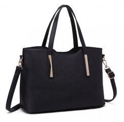 Praktický dámský kabelkový set 2v1 Miss Lulu černá Lulu Bags (Anglie) E-batoh