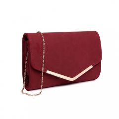 Červené matné dámské psaníčko Miss Lulu Lulu Bags (Anglie) E-batoh