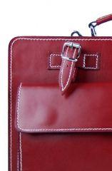 Moderní bordová pánská aktovka z pravé italské kůže DIVA E-batoh