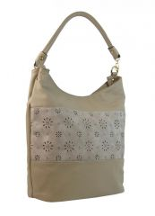 Světlá kombinovaná dámská kabelka se vzorem NH6075 NEW BERRY E-batoh